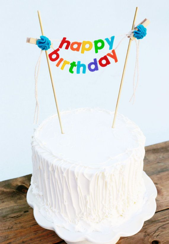 Birthday Cake Banner Topper By Pipsqueakandbean 2350