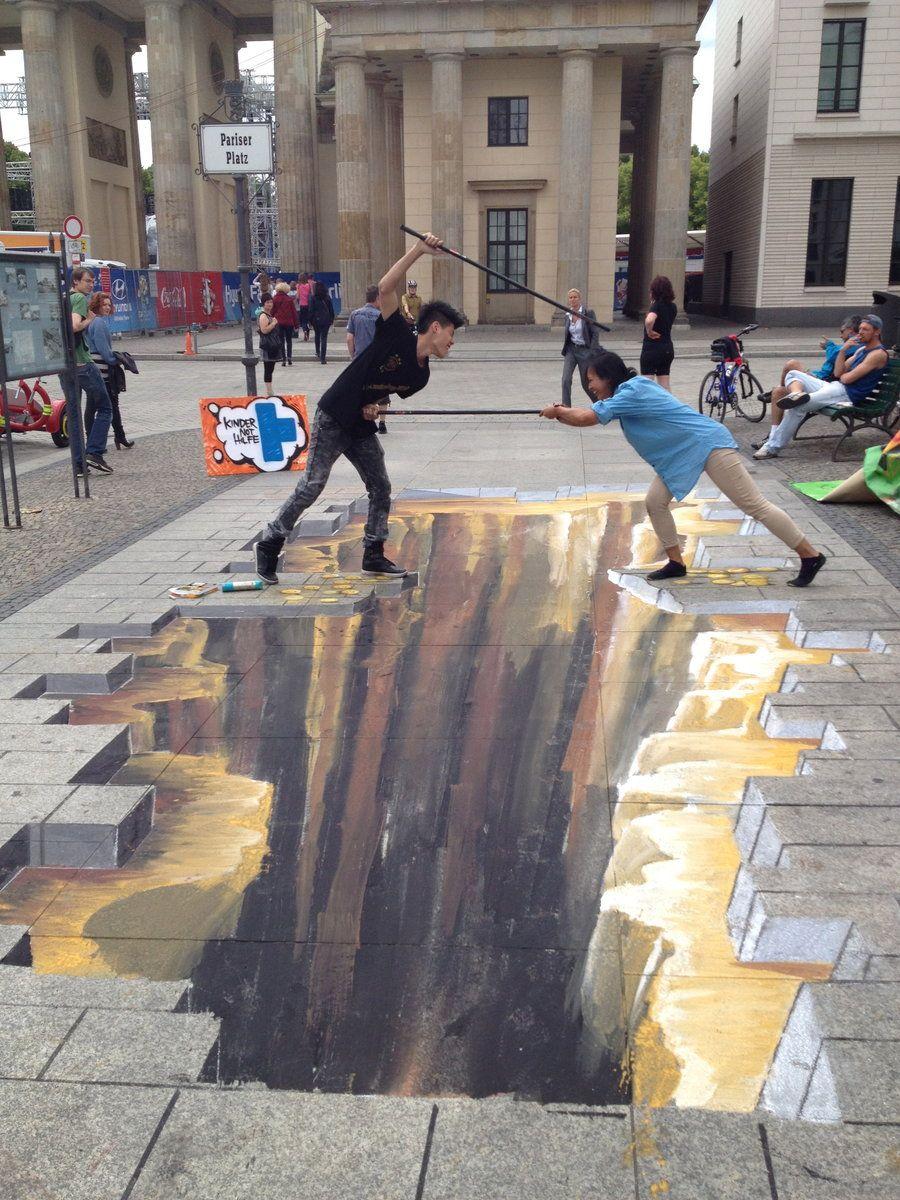 3d street art 3d street art berlin by molekuele 3d street art