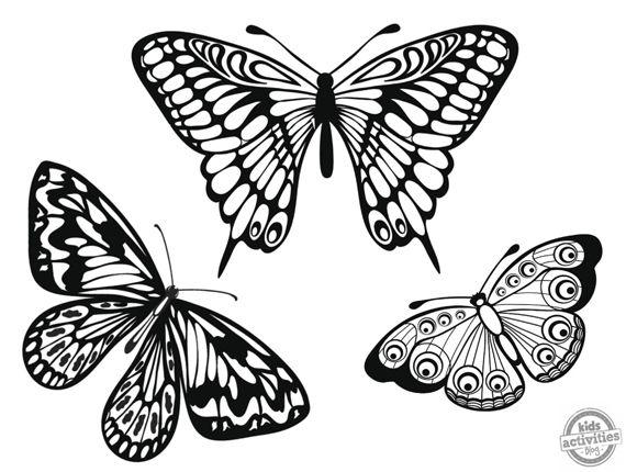 Manualidades Diy Maternidad Decoracion Ninos Dibujos De Mariposas Descargables Para Colorear Dibujos De Mariposas Mariposas De Colores Dibujos