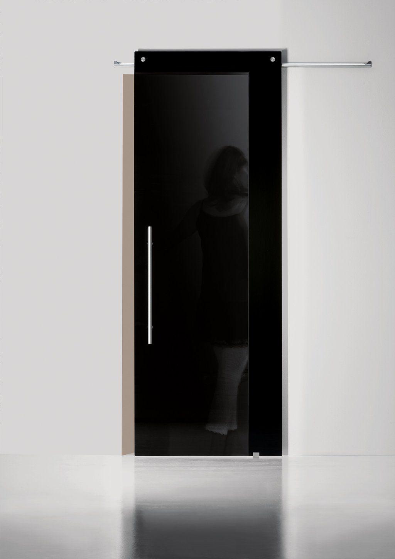 Black Lacquered Glass Door Barn Sliding Door Exterior Doors With Glass Frameless Glass Doors Glass Door