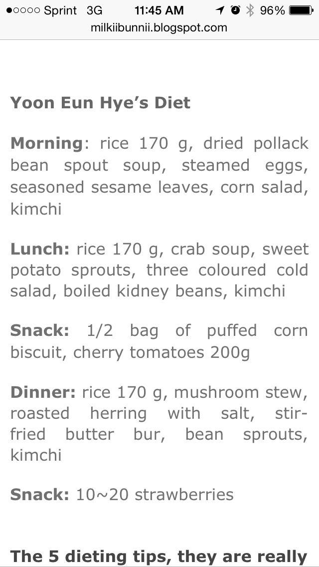 korean diet meal plan meal plans pinterest diet diet meal