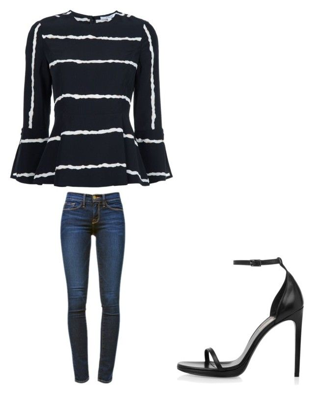 """""""💓"""" by melodyleighmitchell on Polyvore featuring 10 Crosby Derek Lam, Frame Denim and Yves Saint Laurent"""