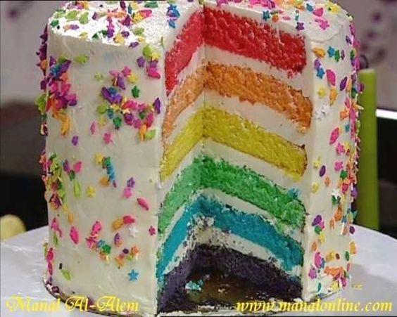تورتة ألوان ألوان منال العالم Love Cake Cake Desserts