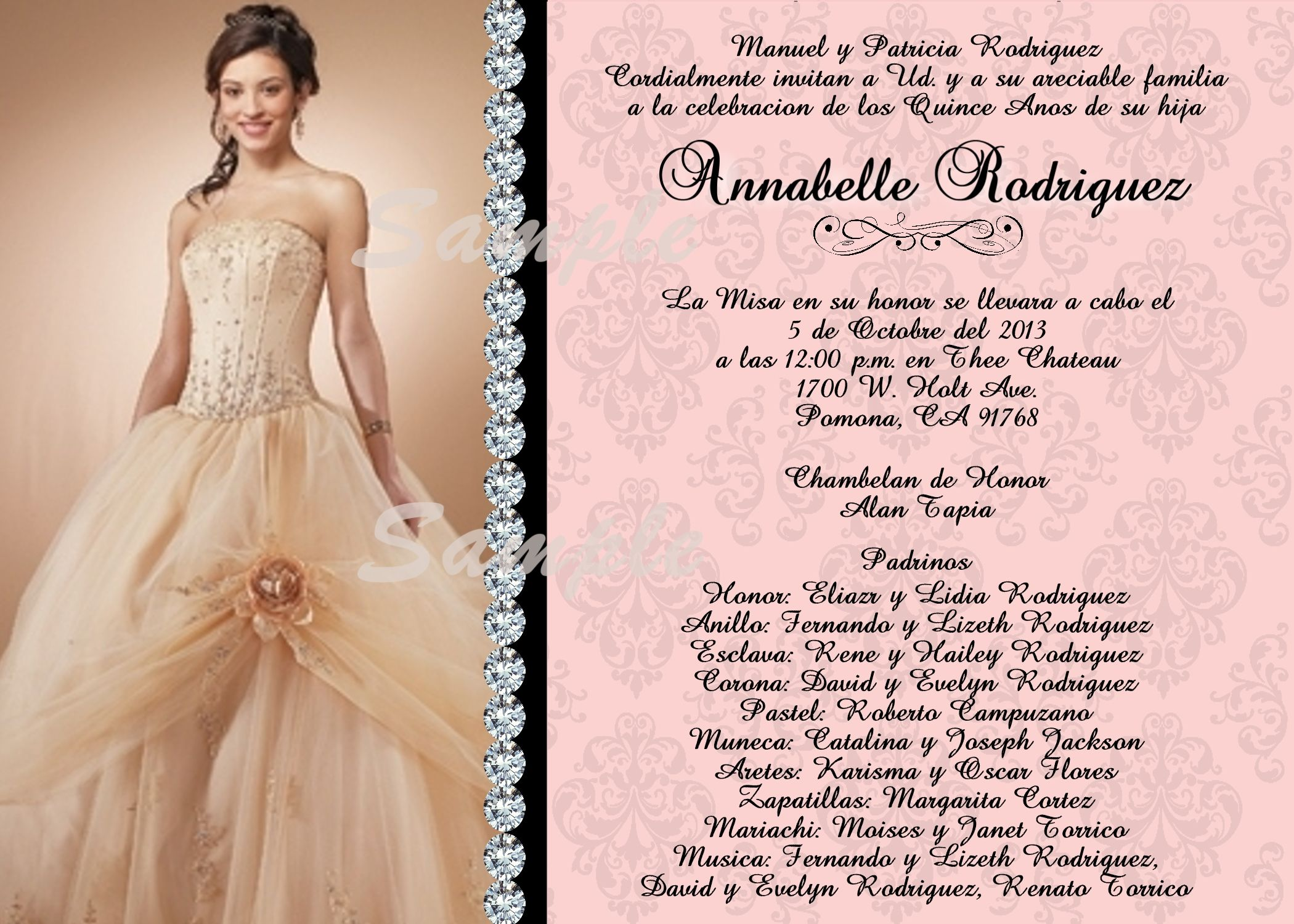 Quinceanera Invitations - Wording for Quinceanera Invitations | 15 ...