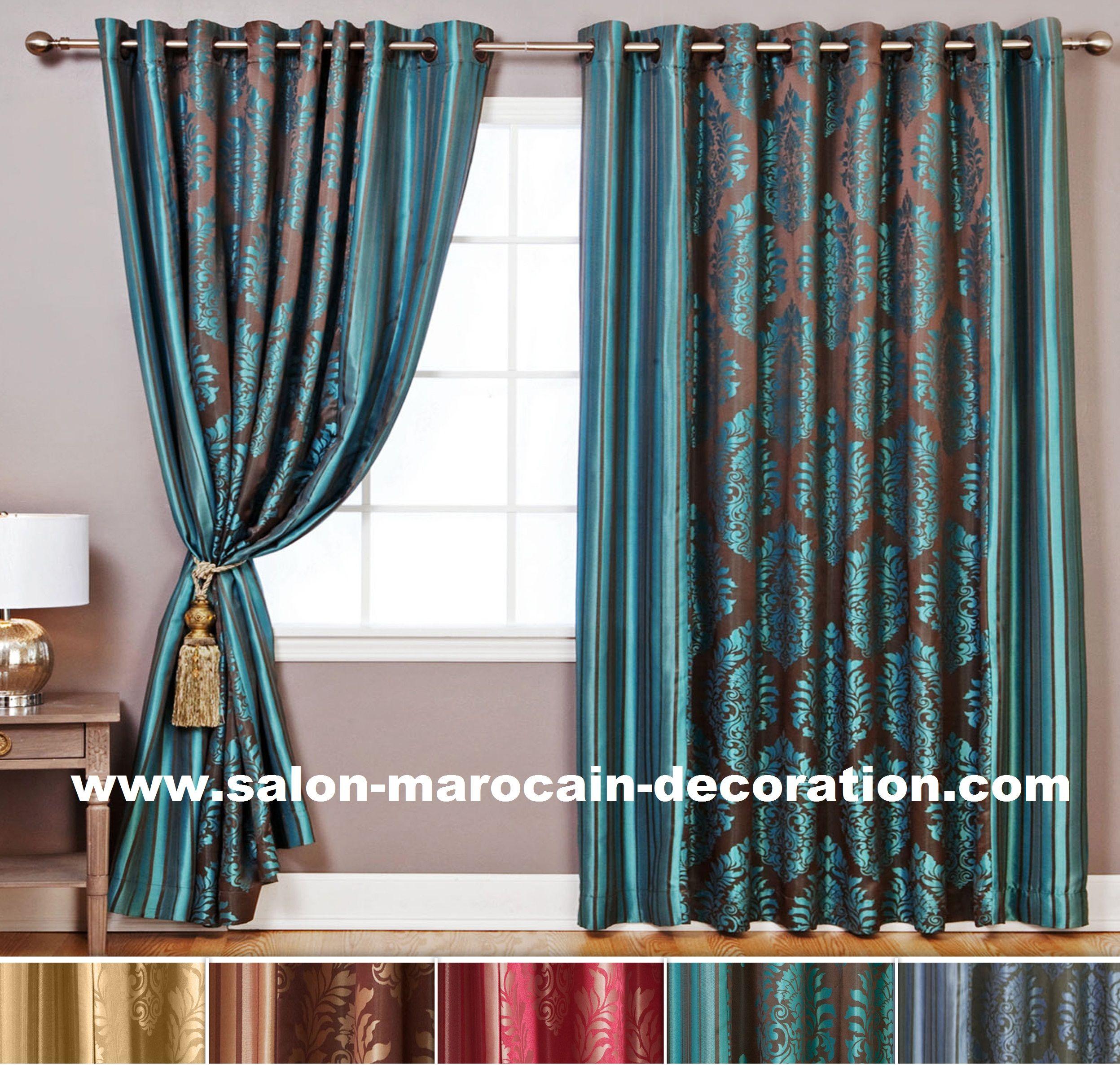 rideaux pour salon marocain moderne ou traditionnel rideau pinterest rideaux pour salon. Black Bedroom Furniture Sets. Home Design Ideas