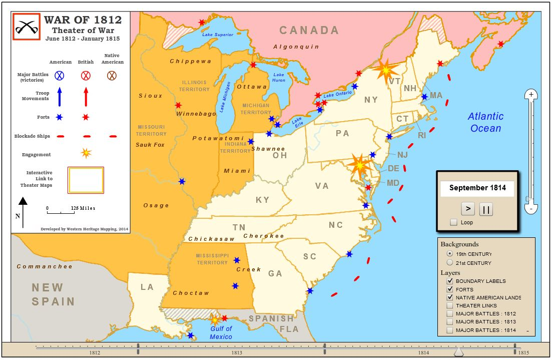 Image result for war of 1812 maps