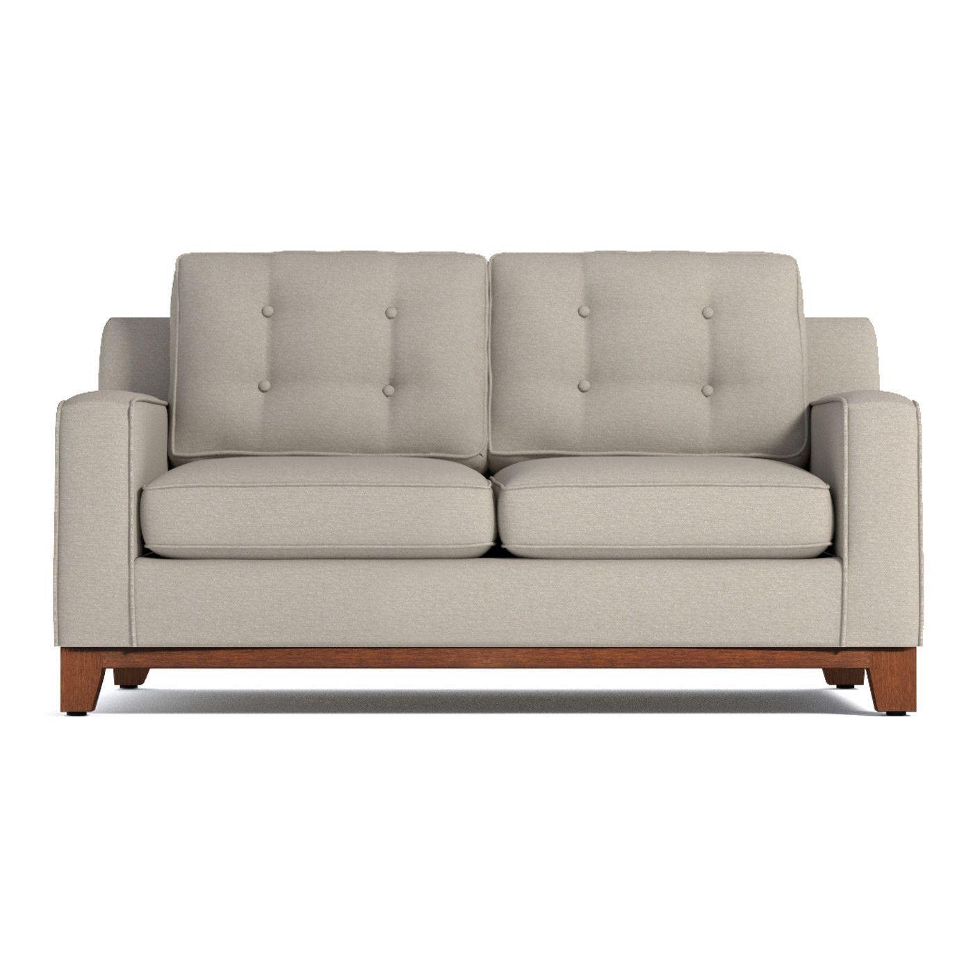 Brentwood Apartment Size Sofa Leg Finish Pecan Size