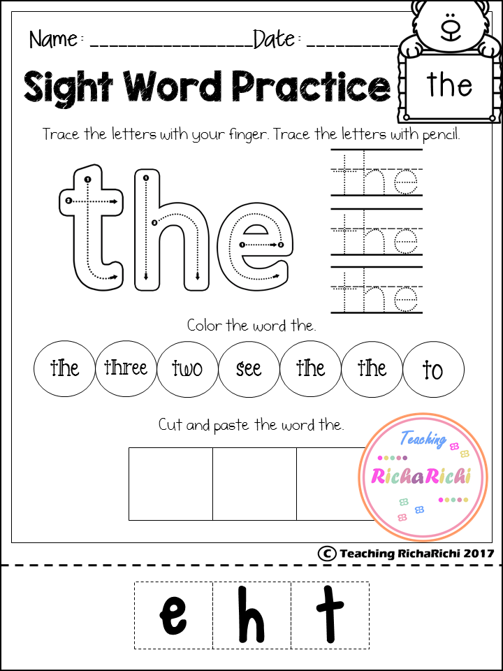 free sight word activities pages for pre primer inside you will find 40 pages of sight word activities according to dolch sight word list if you like it