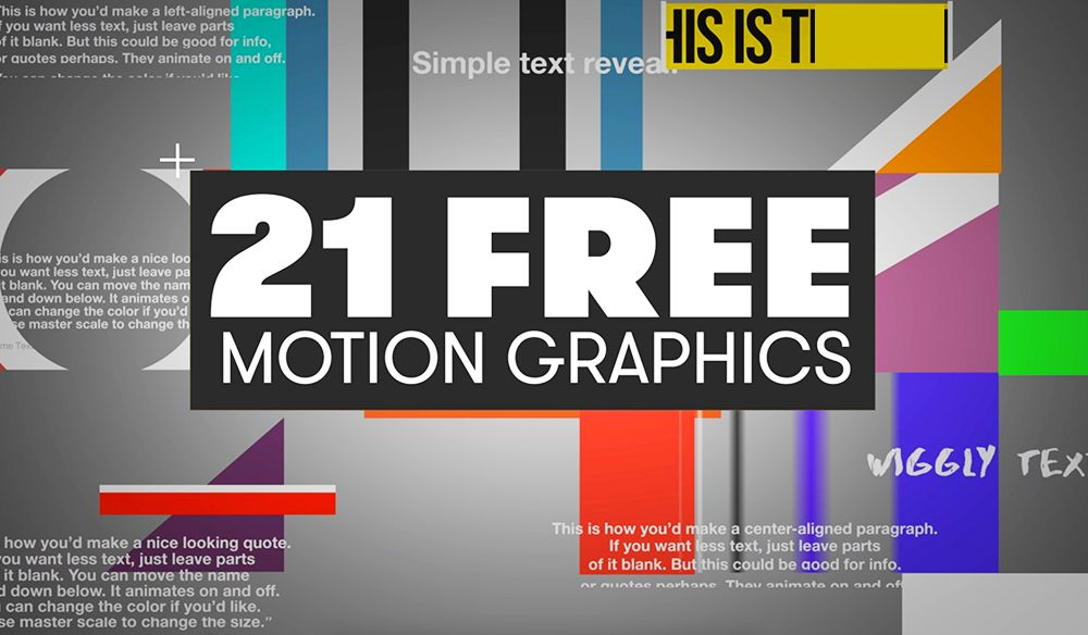 21 Free Motion Graphics Templates For Adobe Premiere Pro With