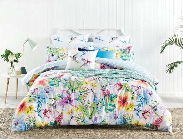Palm Cove Print Floral Bed Bath N Table Quilt Cover Single Quilt Bed Styling