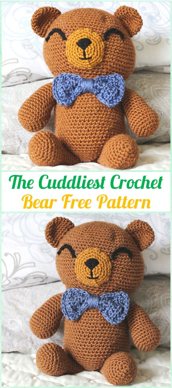 Amigurumi Crochet Teddy Bear Toys Free Patterns