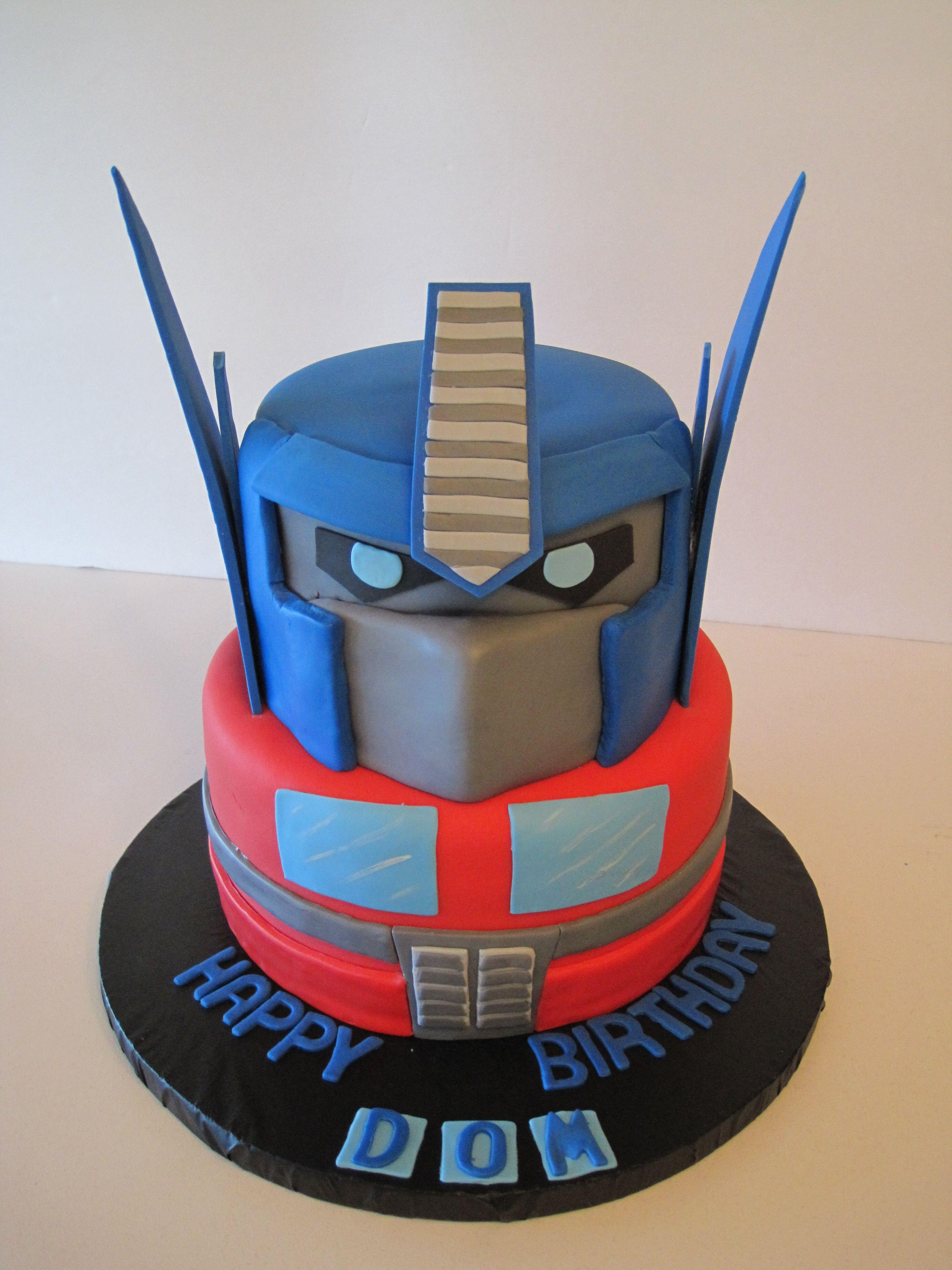 Fantastic Transformer Birthday Cake With Images Transformers Birthday Funny Birthday Cards Online Alyptdamsfinfo