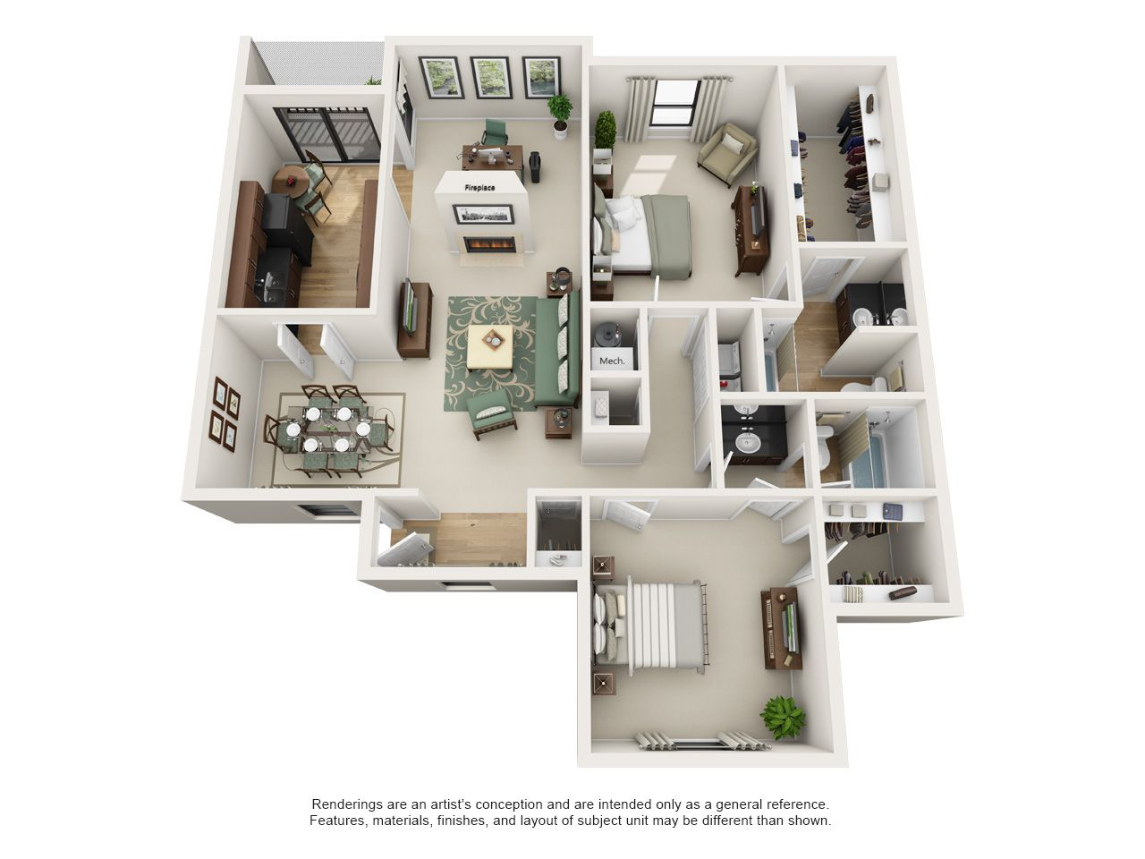 One And Two Bedroom Apartment Floor Plans Rosemont At East Cobb Marietta Georgia Apartmen Apartment Floor Plans Two Bedroom Apartments Apartment Layout