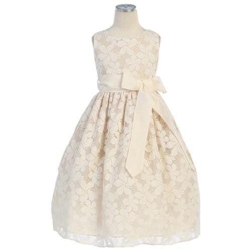Rakuten.com - Sweet Kids Ivory Lace Flower Toddler Girl Dress $70 ...
