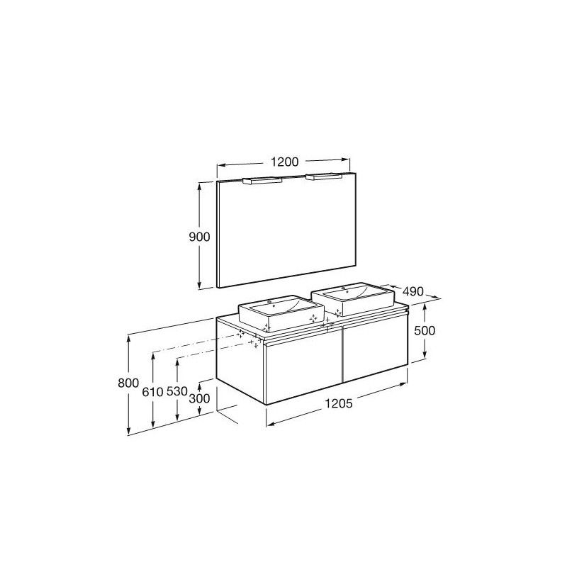 Resultado de imagen para altura de muebles de ba o ba os medidas pinterest - Altura muebles cocina ...