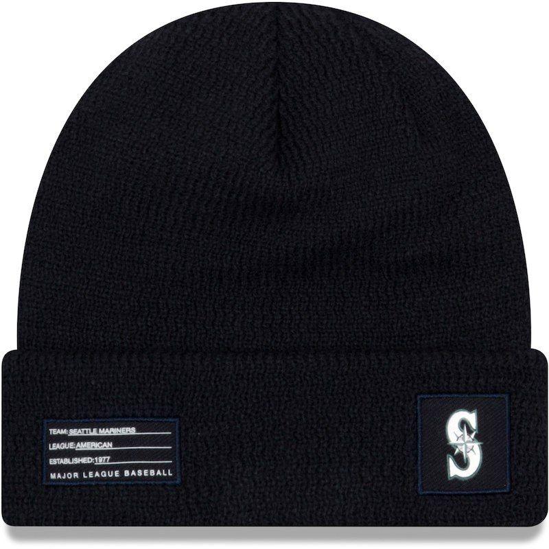 b4dd68c7d27 Seattle Mariners New Era Youth On-Field Sport Cuffed Knit Hat – Navy ...
