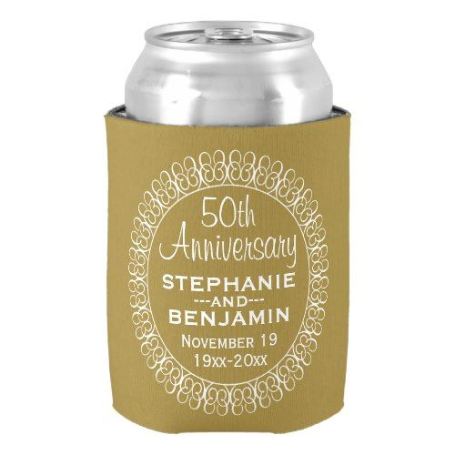 50th Wedding Anniversary Personalized Can Cooler