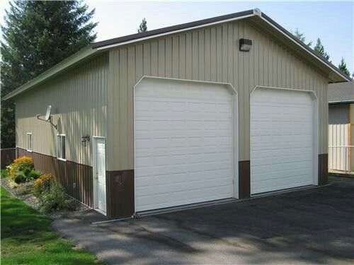 30 X 40 Metal Building With Two 12 X 12 Doors Metal Buildings Steel Buildings Residential Garage
