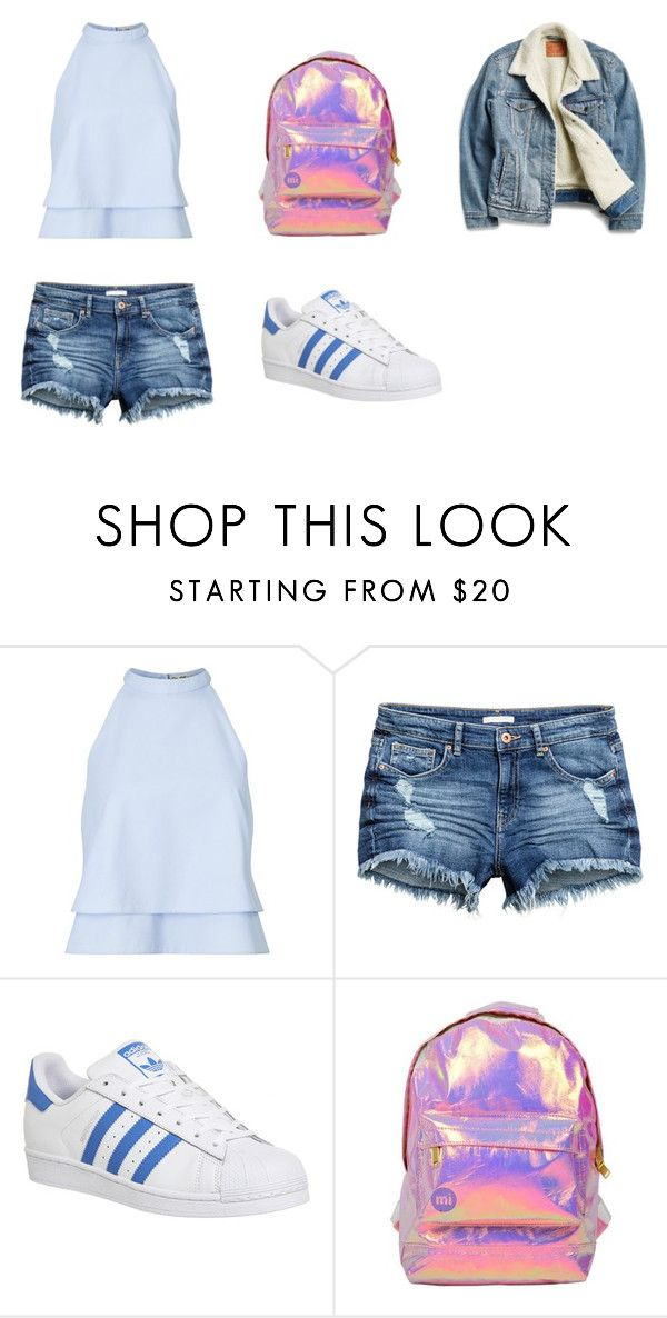"""""""Oct17th"""" by palefiction ❤ liked on Polyvore featuring Miss Selfridge, adidas and Levi's"""