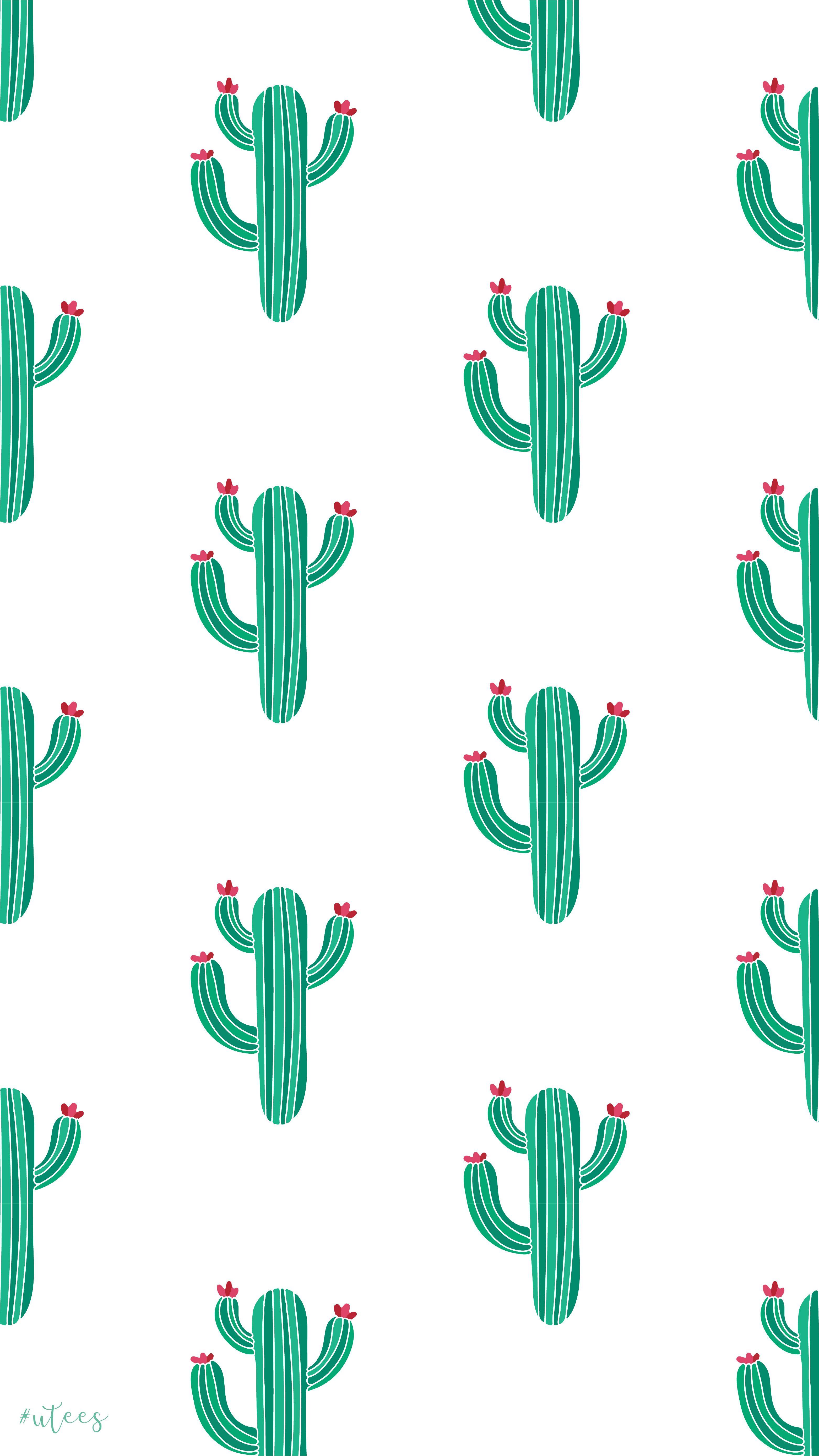 Cactus Wallpaper Design I Made By University Tees Design Team Cute Wallpaper For Phone Cute Patterns Wallpaper Wallpaper Iphone Cute