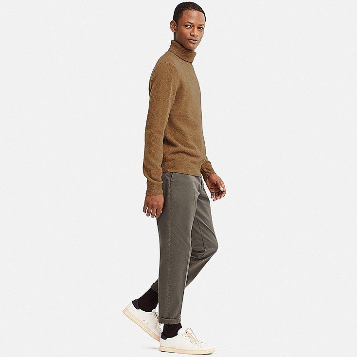 f0238d9e260 Men premium lambswool turtleneck long-sleeve sweater