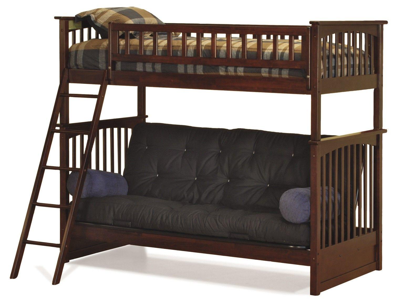 loft bed over futon desk wood Bing Images Futon bunk