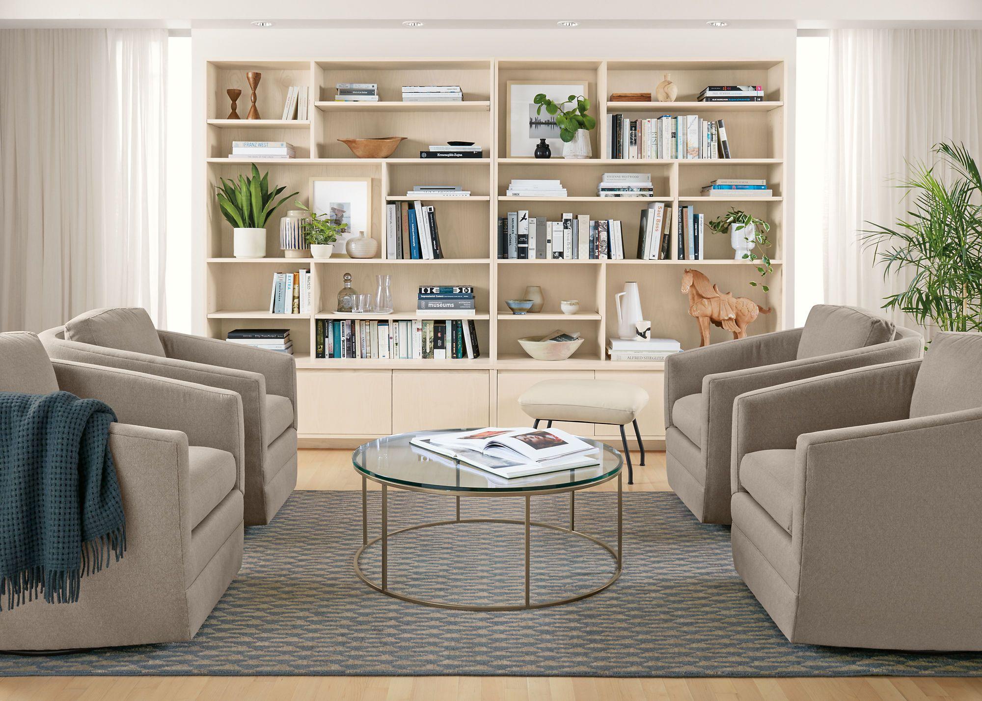 Zoom Room & Board Modern furniture living room, Swivel