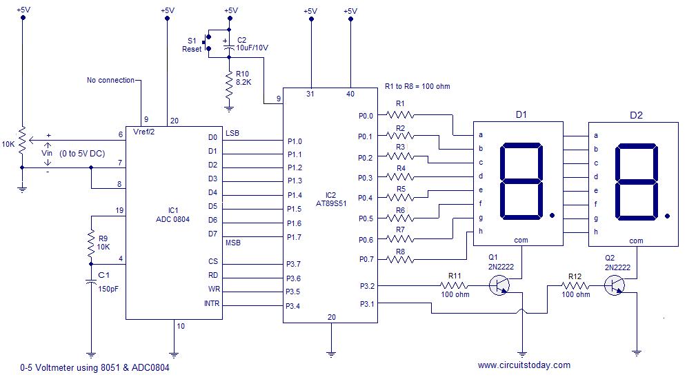 Digital Voltmeter Circuit Diagram Using Icl7107 7106 With Pcb Circuit Diagram Digital Circuit Circuit