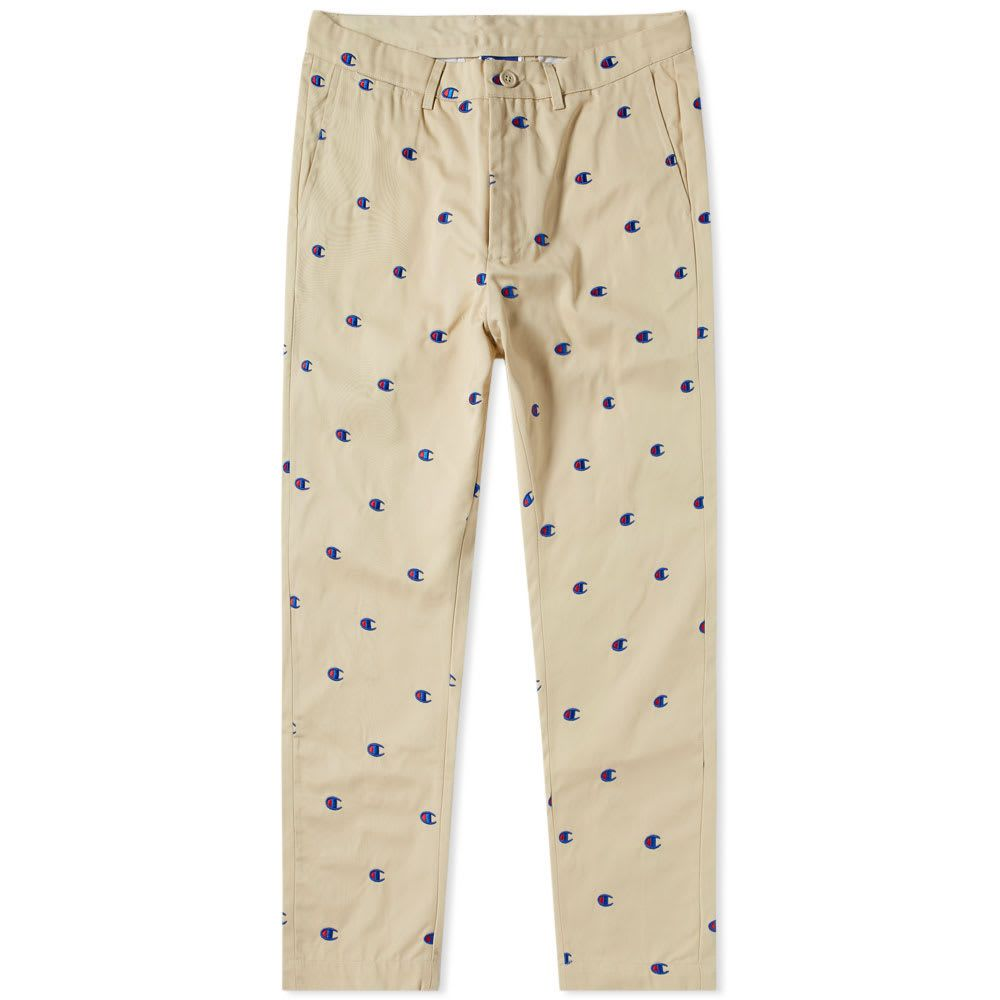 5e312b0b1af5 CHAMPION CHAMPION X BEAMS ALL OVER EMBROIDERED CHINO.  champion  cloth