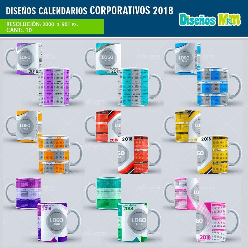 Plantillas para logo taza calendarios corporativos 2018 - Disenos de calendarios ...