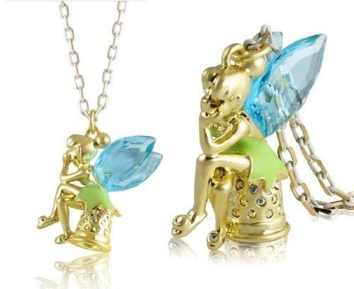 I found Disney Couture Icon Tinkerbell Thimble Necklace on Wish