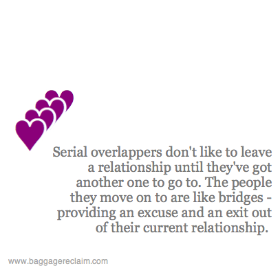 Overlappers: When they start a new relationship just before
