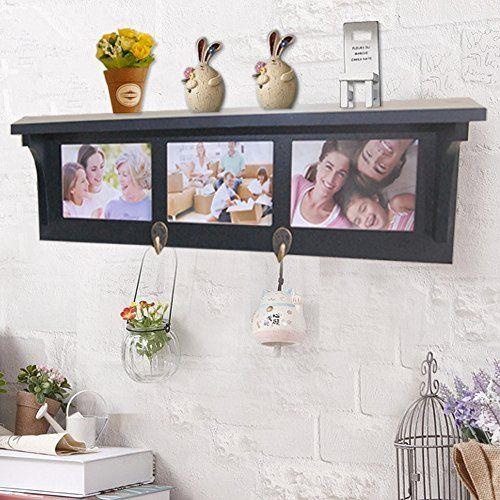 Nexxt Kian Wall Shelf With 5 Pegs 24 Inch By 5 Inch White Wall Hanging Shelves Hanging Shelves Floating Shelves
