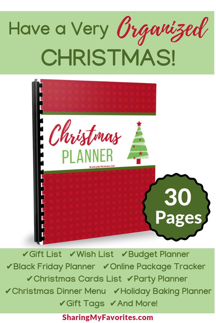 printable christmas planner best of sharing my favorites