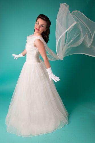 Genuine 50s Vintage Wedding Dress - Absolutely Stunning - Pristine ...