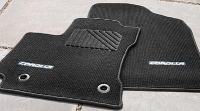 Genuine Toyota Corolla Black Carpet Floor Mat Set Pt206 02142 21