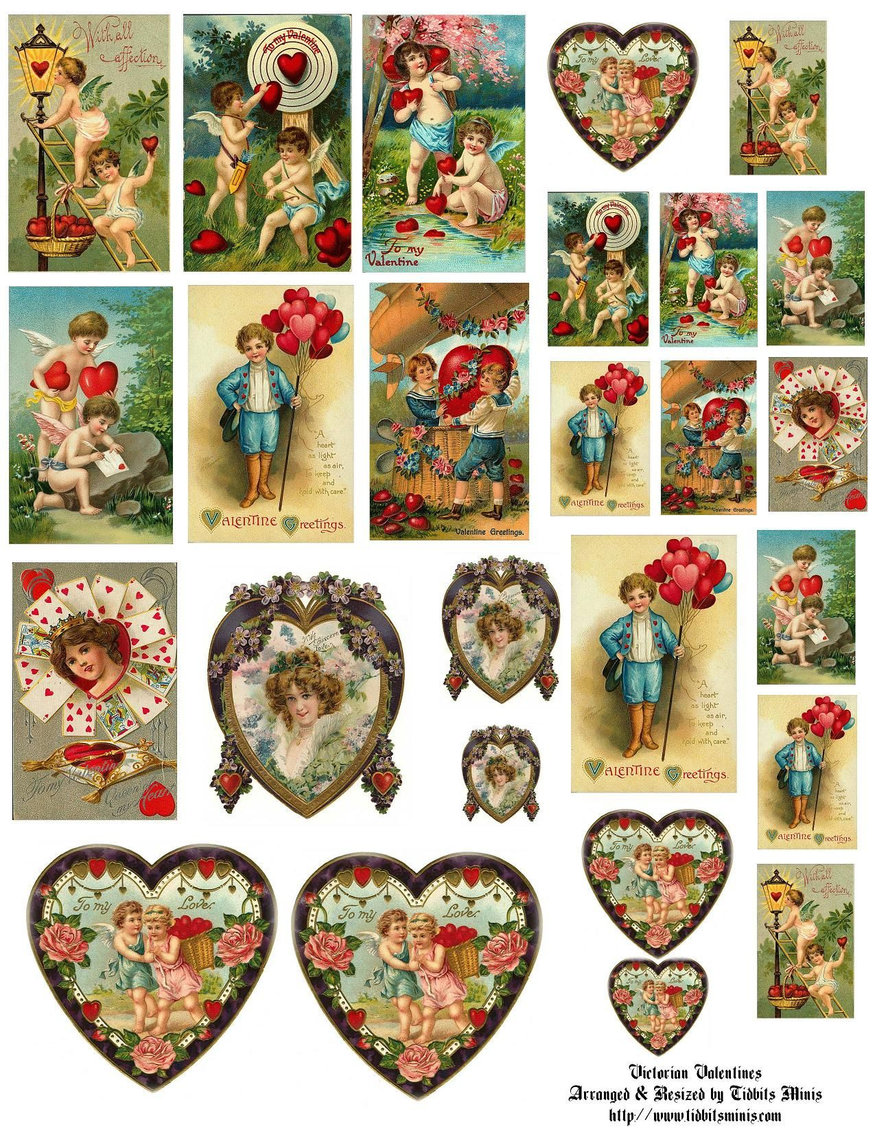 Vintage Valentine Mini Printables