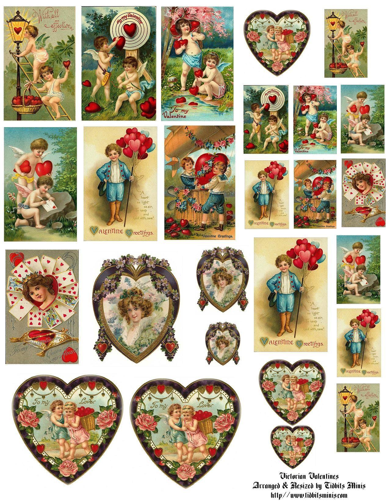 10 Cherub Angel Heart Die Cut Embellishment Cutout Valentine Scrapbook Cards