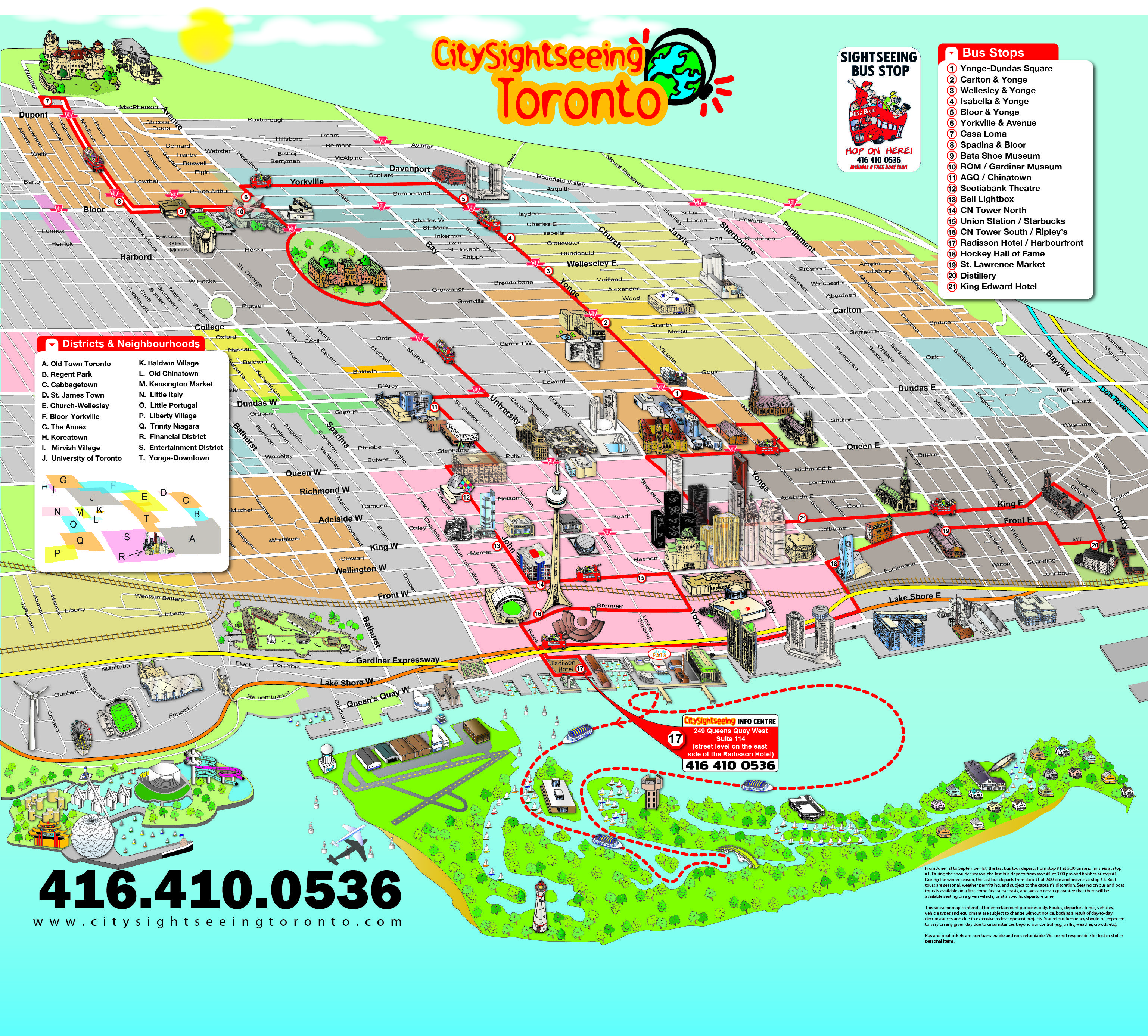 View a map of all the major attractions and point of ...