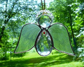 Stained Glass Angel Suncatcher picture only