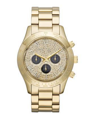 0e3261c139a8 Mid-Size Golden Stainless Steel Layton Glitz Watch by Michael Kors ...