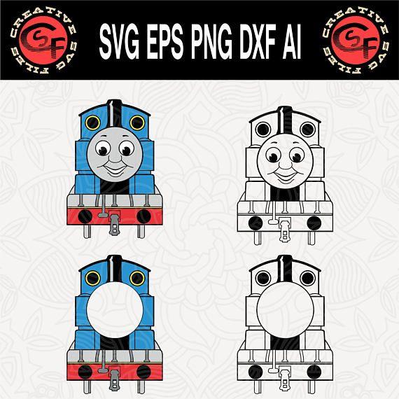 f3c9048327 Train Clipart, Vector File, Svg File, Thomas The Train, Cricut Ideas,