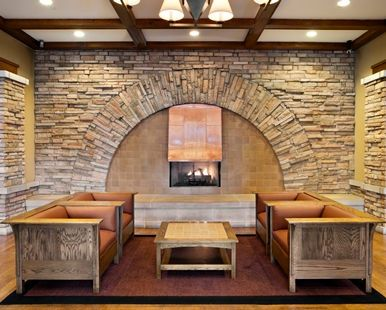 Doubletree By Hilton Hotel Libertyville Mundelein Il Fireplace Area
