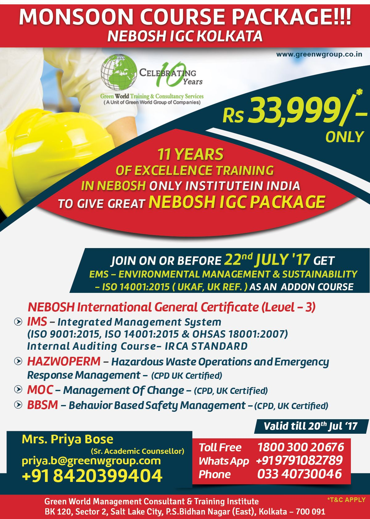 Are You Looking For Any Safety Courses Study Nebosh At Green World
