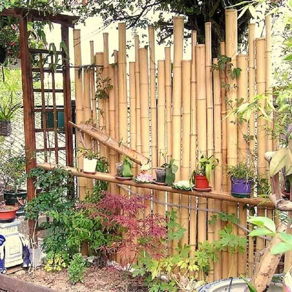 Cloture Zen En Bambou Naturel Tiko 1 50m X1 7 2m Cloture Bambou