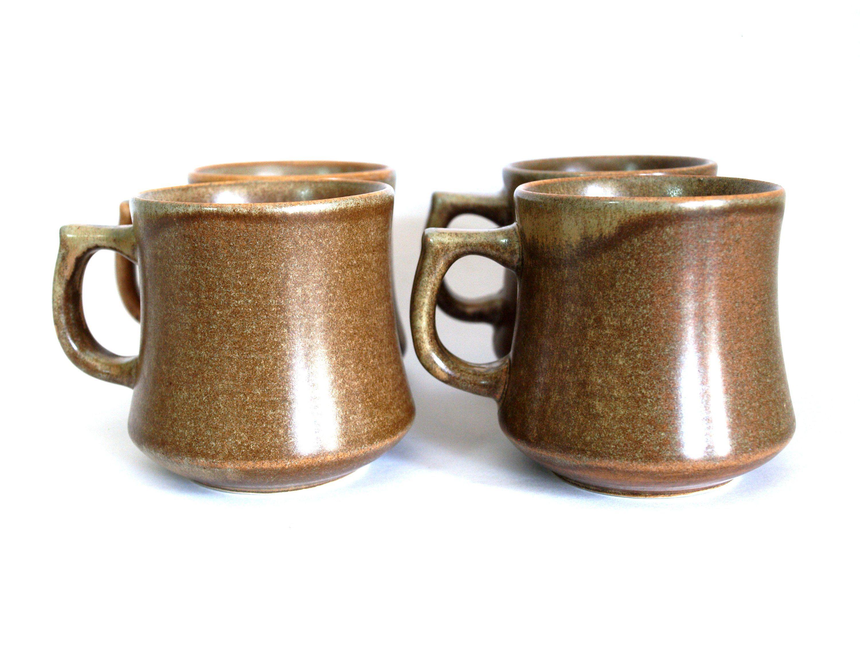 Temuka Pottery Riverstone Coffee Cups Stoneware Small