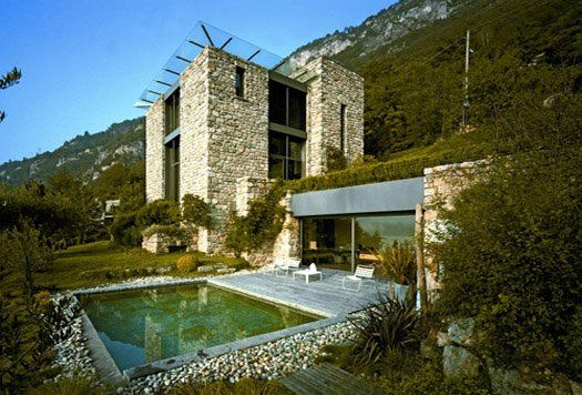 Stunning Stone House In The Mediterranean Countryside Contemporary House Exterior House Designs Exterior Modern Castle