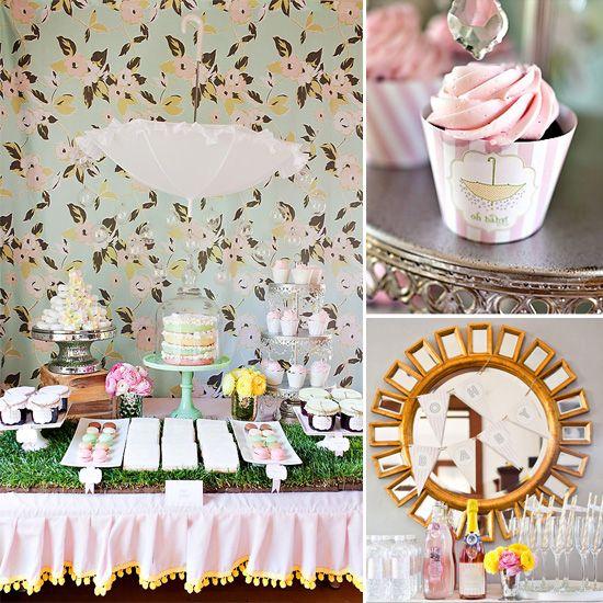 """A Spring """"Baby Sprinkle"""" {Featured Shower}..como para un cumplea~os tea party para Penny"""