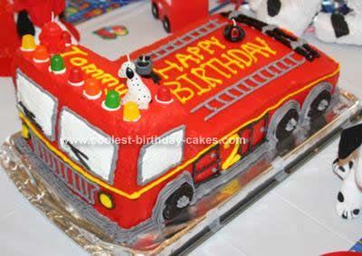 Wondrous Fire Truck Cake Design The Cake Boutique Funny Birthday Cards Online Benoljebrpdamsfinfo