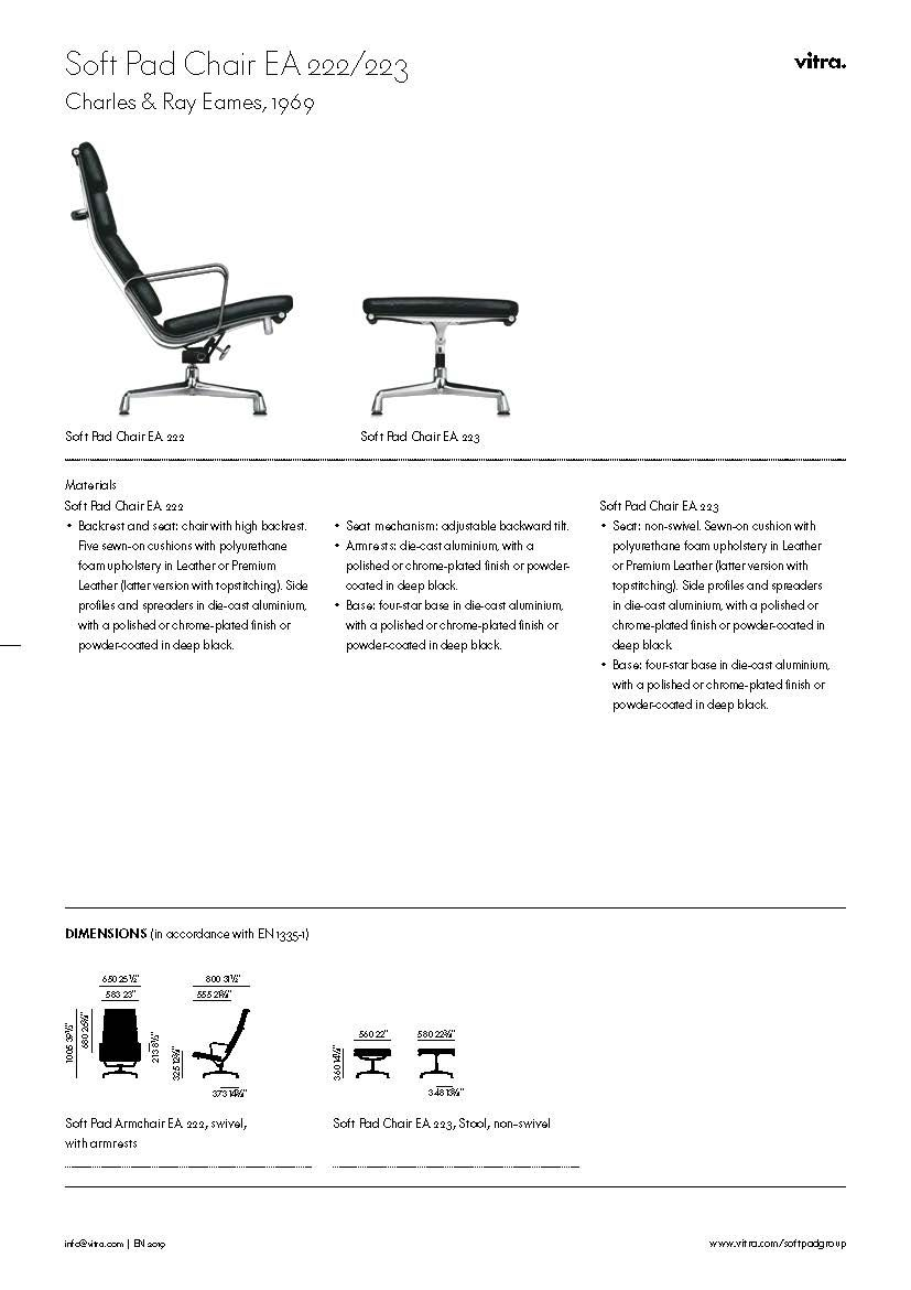 eames soft pad chair from vitra (group ea 219)